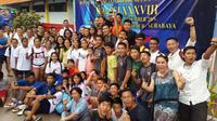 Perkumpulan Renang Millenium Aquatic Jakarta (MNA) menjadi juara umum KRAPSI 2016, di Kolam Renang KONI Jatim, Surabaya, Jumat (23/12/2016). (Humas KRAPSI)
