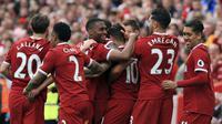 Liverpool bertengger pada peringkat keempat klub Premier League penghasil gol terbanyak dengan torehan 78 gol. (Peter Byrne/PA via AP)