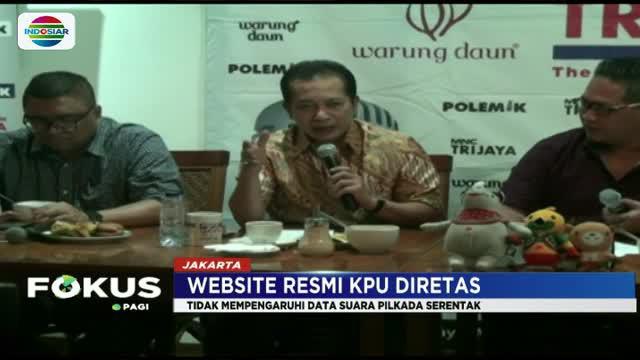Kendati tidak mempengaruhi data perhitungan suara yang telah masuk, namun peretasan sempat menghambat kerja KPU.