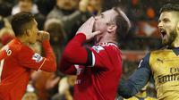 Berikut video 11 pemain terbaik Premier League pekan ke-21. Roberto Firmino, Olivier Giroud dan Wayne Rooney masuk dalam daftar.