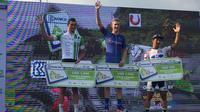 Marcus Culey memenangkan etape ketiga Tour d' Indonesia 2019. (Liputan6.com/Adyakasa Vidi)