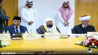 Wakil Ketua MPR Hidayat Nur Wahid sebagai tokoh Islam dunia menghadiri sidang majelis tertinggi Rabitha Al Alam Al Islami (Liga Dunia Islam) yang ke-43 di Mekkah, Arab Saudi (18/10).