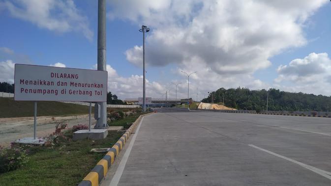 Ruas Tol Pekanbaru-Dumai memiliki perlintasan khusus gajah. (LIputan6.com/Athika Rahma)