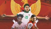Timnas Indonesia - Ronaldo Kwateh, Bagus Kahfi, Taufik Hidayat (Bola.com/Adreanus Titus)
