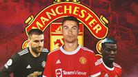 Manchester United - Luke Shaw, Cristiano Ronaldo, Paul Pogba (Bola.com/Adreanus Titus)