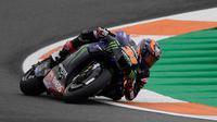 Garrett Gerloff saat mengikuti latihan bebas MotoGP Eropa di Sirkuit Ricardo Tormo, Valencia, Jumat (06/11/2020). (JOSE JORDAN / AFP)