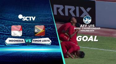 Berita video momen gol Timnas Indonesia U-15 saat menghadapi Timor Leste di Grup A Piala AFF U-15 2019, Rabu (31/7/2019).