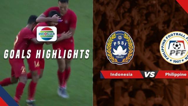 Berita video gol-gol Timnas Indonesia U-23 saat menang besar 5-0 atas Filipina pada laga perebutan tempat ketiga Merlion Cup 2019, Minggu (9/6/2019).