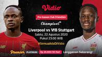 Laga persahabatan Liverpool vs VfB Stuttgart di Vidio. (Sumber: Vidio)