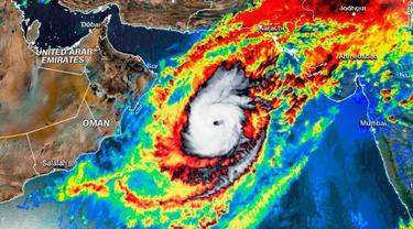 Siklon Tropis Langka di Arab Saudi. (CNN Weather)