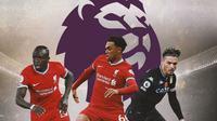 Premier League - Sadio Mane, Trent Alexander-Arnold, Jack Grealish (Bola.com/Adreanus Titus)