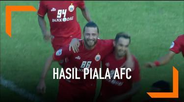 Persija Jakarta mengemas kemenangan perdananya di Piala AFC 2019.