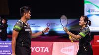Ganda campuran Indonesia Praveen Jordan / Melati Daeva Oktavianti lolos ke final Thailand Open 2021 di Impact Arena, Bangkok. (foto: BWF-limited acces)