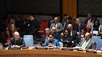 Menteri Luar Negeri RI Retno Marsudi di Dewan Keamanan PBB, New York, membahas isu perdamaian Kolombia - FARC (23/1/2019) (kredit: Kemlu RI)