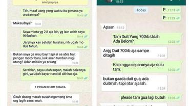 6 Chat Nagih Hutang Ini Drama Banget, Bikin Geregetan