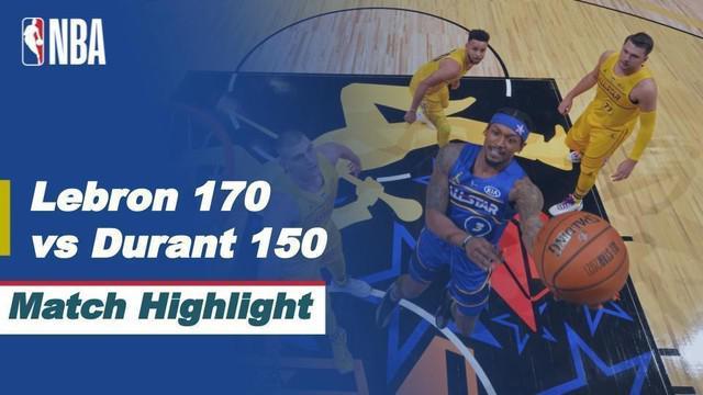 Berita video highlights dengan beragam aksi menghibur di NBA All-Star 2021 antara Team Durant melawan Team LeBron yang berakhir dengan skor 150-170, Senin (8/3/2021) pagi hari WIB.