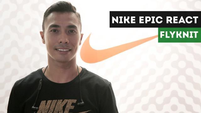Atlet Triathlon Indonesia, Jauhari Johan, memiliki pendapat tentang sepatu baru Nike Epic React Flyknit.