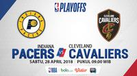 NBA Playoff 2018 Indiana Pacers Vs Cleveland Cavaliers Game 6 (Bola.com/Adreanus Titus)