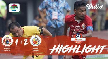 Laga lanjutan #ShopeeLiga1, #PersijaJakarta vs #SemenPadangFC pada hari Rabu sore (16/10/2019) berakhir  dengan skor 1-2.