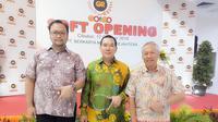 Ketum PB Pengusaha Berkarya Rahmat (kiri)  bersama Ketum Partai Berkarya Tommy Soeharto.