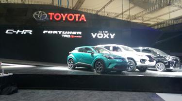 Toyota C-HR, Fortuner, dan All new Voxy di GIIAS 2017 (Arief A/Liputan6.com)