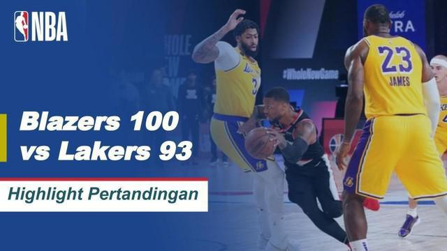 Berita Video Highlights NBA, LA Lakers Tumbang dari Portland Trail Blazers di Ronde Pertama Babak Playoff