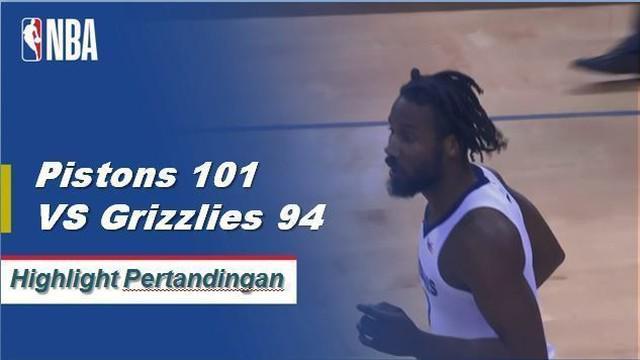 Blake Griffin mencetak 26 poin dan menambah delapan rebound dan tujuh assist untuk memimpin Detroit Pistons atas Memphis Grizzlies 101-94.