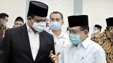 Ketua Dewan Masjid Indonesia (DMI) Jusuf Kalla atau JK menyarankan agar masjid dapat digunakan sebagai lokasi pelaksanaan vaksinasi Covid-19.