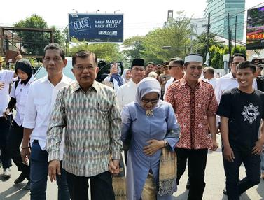 Pulang Kampung, JK Disambut Meriah Warga Makassar