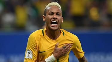 Neymar Cetak Gol, Brasil Menang Tipis 2-1 atas Kolombia