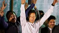Imran Khan, Perdana Menteri Pakistan yang dulunya merupakan mantan atlet kriket dan selebritas nasional (AP)