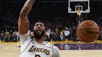Forward Los Angeles Lakers Anthony Davis bersinar di awal NBA musim ini. (AP Photo/Kelvin Kuo)