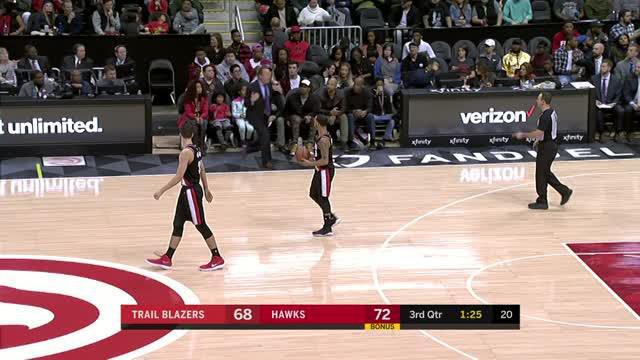 Berita video game recap NBA 2017-2018 antara Atalanta Hawks  melawan Portland Trail Blazers dengan skor 104-89.