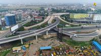 Tampak pengerjaan Jalan Tol Cengkareng-Batu Ceper-Kunciran sepanjang 14,19 km. Dok PUPR