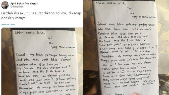 Viral Ucapan Ulang Tahun Nyeleneh Dari Ibu Untuk Anaknya Citizen6 Liputan6 Com