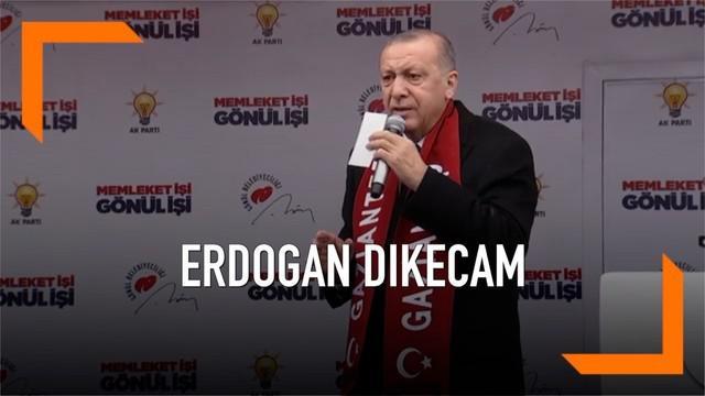 Presiden Turki Recep Tayyip Erdogan dikecam karena memutar video penembakan masjid di Selandia Baru saat melakukan kampanye.
