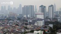 Banner Infografis Kualitas Udara di Jakarta Tidak Sehat. (Liputan6.com/Triyasni)