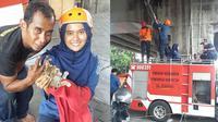 Drama 3 Jam Tim Selamatkan Kucing Terjebak di Fly Over 5 Hari, Bikin Haru (sumber: Facebook.com/Retno Tri Iswandari)