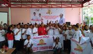Ratusan Relawan Buruh Sahabat Jokowi (RBSJ) hari ini, Senin (25/3/2019) mengucapkan ikrar janji setia untuk terus bersama Jokowi dalam membangun bangsa.