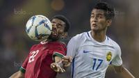 2. Wajah dari pemain Timnas Indonesia, Yabes Roni, tampak penyok akibat berusaha mengontrol bola yang melaju terlalu keras. (Bola.com/Vitalis Yogi Trisna)
