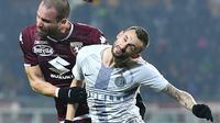 Inter Milan secara mengejutkan takluk 0-1 dari dari Torino pada pekan ke-21 Serie A, Stadio Olimpico, Turin, Senin (28/1/2019) dini hari WIB.  (Alessandro DI Marco/ANSA via AP)