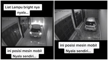 Alarm Mobil yang Lagi Parkir di Garasi Ini Nyala Sendiri, Videonya Bikin Merinding