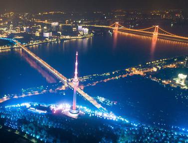 FOTO: Pemandangan Malam Kota Wuhan Setelah Corona Mereda