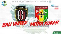 Liga 1 2018 Bali United Vs Mitra Kukar (Bola.com/Adreanus Titus)