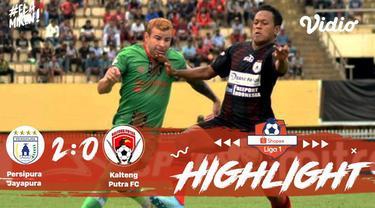 Laga lanjutan Shopee Liga 1, PERSIPURA  Jayapura VS Kalteng Putra berakhir dengan skor 2-0.
