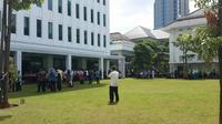 Suasana Gempa di Kementerian ESDM. (Liputan6.com/Pebrianto Eko Wicaksono)