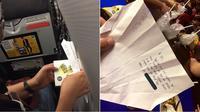 Surat cinta yang diberikan seorang pria untuk salah satu penumpang maskapai penerbangan (Sumber: worldofbuzz)