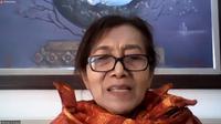 Penyintas sindrom Sjogren Yennel S. Suzia dalam acara temu media secara daring oleh Kalbe pada Kamis (6/8/2020)