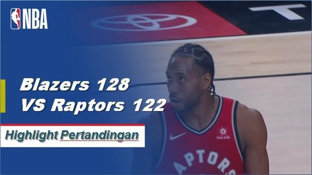 Damian Lillard menempatkan 24 poin dan tujuh pemain lainnya mencetak angka ganda saat Blazers mengalahkan Raptors, 128-122.