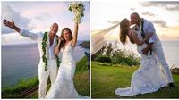 Momen Manis Luaren Hashians dan The Rock , Menikah Setelah 12 Tahun Pacaran (sumber:Instagram/laurenhashianofficial)